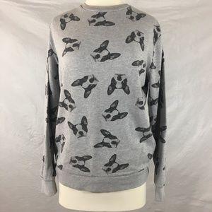 F21 PUG life sweatshirt dog lover gray sweatshirt